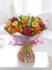 Order flowers online from Interflora. All bouquets are expertly crafted by local florists and hand-delivered to the door. Hand Tied Bouquet, Order Flowers Online, Same Day Flower Delivery, Local Florist, Summer Flowers, Dublin, My Design, Sunshine, Bloom