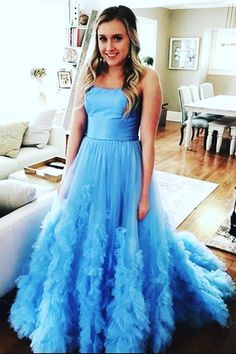 Strapless Long Blue/Red Prom Dresses Evening Gowns For Women Prom Dresses Blue, Cheap Prom Dresses, Homecoming Dresses, Formal Dresses, Graduation Dresses, Formal Wear, Party Dresses, Evening Party Gowns, Evening Dresses