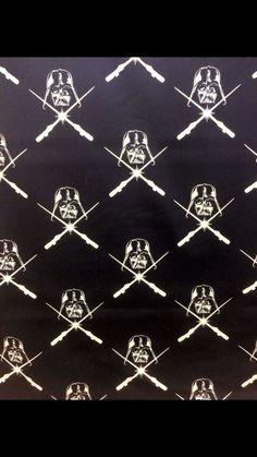 Star Wars Darth Vader Glow In The Dark Fabric Woven Cotton Print   eBay