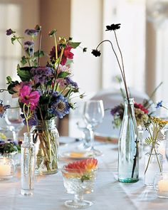 table decor - this was actually a Sandusky Ohio wedding :)