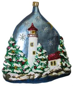 Coastal Maine.. Ornament from the Larry Fraga Design collection.