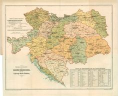 Austro-Hungarian Empire, military districts, 1894 #map #austria #hungary