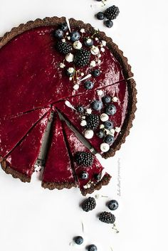 chocolate blueberry lime tart