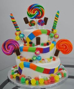 the perfect candy land cake!