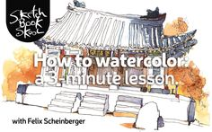 How to watercolor — with Felix Scheinberger. How to watercolor: In under 3 mins. All you need to know to get started. Taught by a master. Watercolor Video, Watercolor Painting Techniques, Watercolor Sketchbook, Pen And Watercolor, Watercolour Tutorials, Drawing Techniques, Watercolor Landscape, Watercolor Paintings, Watercolors