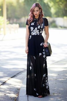 50 Stylish Wedding Guest Dresses That Are Sure To Impress: Flower Power. For more ideas, click the picture or visit www.sofeminine.co.uk