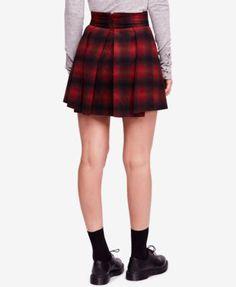 72c7f6a30f5 Free People High-Waist Pleated Plaid Mini Skirt   Reviews - Skirts - Women  - Macy s