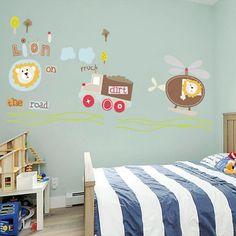 Gyerekszoba falmatricák fiúknak : Oroszlán helikopterrel és teherautóval falmatrica.  #oroszlán #helikopter #gyerekszobafalmatrica #falmatrica #gyerekszobadekoráció #gyerekszoba #matrica #faldekoráció #dekoráció Toddler Bed, Room, Furniture, Home Decor, Child Bed, Bedroom, Decoration Home, Room Decor, Rooms