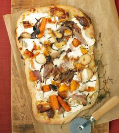Fall Vegetable and Ricotta Pizza Roasted Fall Vegetable and Ricotta Pizza. I added fresh grated parmesan and more rosemary would be good.Roasted Fall Vegetable and Ricotta Pizza. I added fresh grated parmesan and more rosemary would be good.