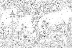 Coloring Page World Garden Landscape