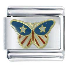 Italian Charms - usa butterfly italian charm bracelet Image.