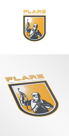 Flare Welders and Fabricators Logo by patrimonio on @creativemarket