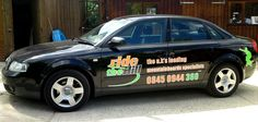 Ride the Hill Audi A4 with printed vinyl graphics.