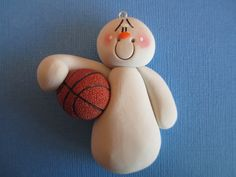Personalized Polymer Clay Basketball Sport Snowman on Etsy, $9.00