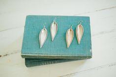 Double Metallic Leather Leaf Earrings – The Magnolia Market
