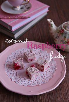 Masquerade Coconut & Raspberry Fudge (Raw, Vegan, Low Sugar)