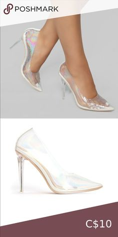 Clear prismatic heel Never worn. Fashion Nova Shoes Heels Fashion Nova Shoes, Fashion Tips, Fashion Design, Fashion Trends, Kitten Heels, Shoes Heels, Closet, Things To Sell, Style