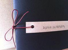 Handmade Notebook Björk Is Singing