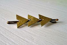 Arrow Hair Pins using Shrinky Dinks