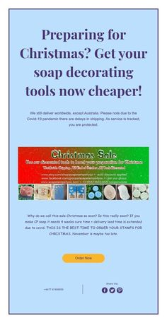 Preparing for Christmas? Get your soap decorating tools now cheaper! Decorating Tools, Christmas Sale, You Got This, Soap, Its Ok, Bar Soap, Soaps