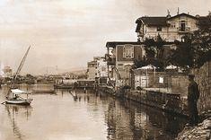 Το θαλάσσιο μέτωπο στο ύψος της οδού Μπιζανίου στα 1915-17. Διακρίνεται το κτίριο διαμερισμάτων του Π. Αριγκόνι