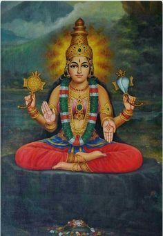 Mookambika Devi of kollur laxmi devi rare painting