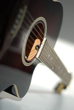 Neat angle on an acoustic guitar
