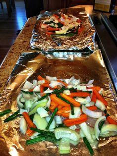 Tin-Foil Grilled Tilapia & Veggies <3