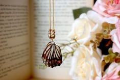 Butterfly Wings Necklace Insect Jewelry Cool JewelryReal by ALOTSS
