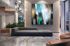 Abstract Painting Dining Room Wall Art Kitchen Decor Extra image 7 Dining Room Wall Art, Kitchen Wall Art, Kitchen Decor, Colorful Paintings, Your Paintings, Original Paintings, Extra Image, Large Painting, Texture Art