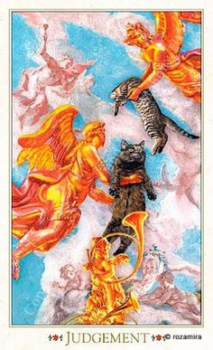 Judgement - Baroque Bohemian Cats' Tarot, 2011 - rozamira tarot - Picasa Web Albums