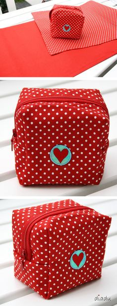Polka dot box pouch