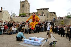 Leaping Lucifers! Spain's El Colacho Baby Jumping Festival in Castrillo de Murcia has been helping to banish evil since 1621. Men dressed as the devil jumped over a mats full of babies in order to cleanse them from evil spirits. - What could possibly go wrong?