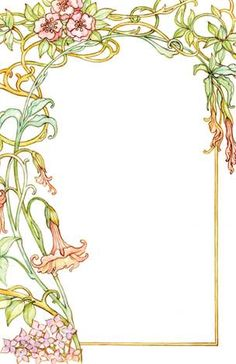 From vistaprint, ART DECO: from Erin. This is one of the cheaper options. Fleurs Art Nouveau, Motifs Art Nouveau, Motif Art Deco, Art Nouveau Design, Art Nouveau Tattoo, Etiquette Vintage, Art Nouveau Illustration, Jugendstil Design, Floral Drawing