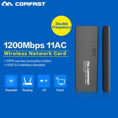 Dual Band 2.4G&5.8GHz 802.11 ac 1200Mbps wifi USB 3.0 WIRELESS WI-FI ADAPTER Network
