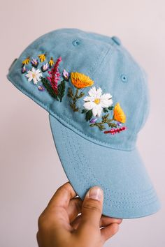 fcbb6f3575e Custom embroidered hats by Lexi Mire    hand embroidery Hat Embroidery