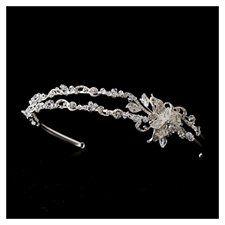 Silver Rhinestone Crystal Flower Wedding Bridal Headband Tiara