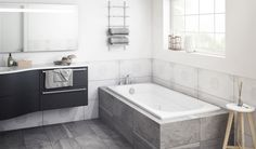 The Luxura® bath, with its molded detail, is the perfect frame for the best part of the day.