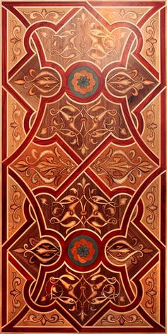 """""""New World"""" wood inlaid design for hardwood flooring and/or table top.  #3d…"""