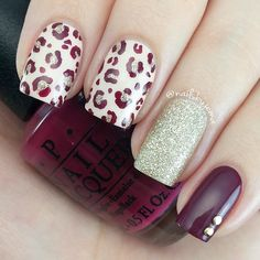 With creative Halloween nail designs and eye-popping colors, it's impossible not to fall in love with these fall nail trends! Fall Nail Trends, Leopard Print Nails, Leopard Prints, Pink Leopard, Nagellack Trends, Burgundy Nails, New Nail Art, Trendy Nails, Love Nails
