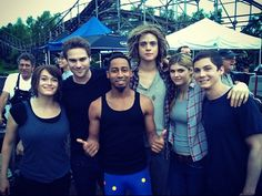 Sea of monsters cast I bet I can name them all!! Leven rambin, Greg damon ,Brandon t. Jackson, Douglas smith, Alexandria daddario, and LOGAN LERMAN!!!!!!!