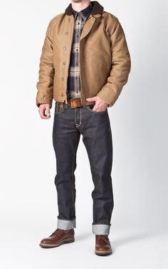 Pike Brothers 1944 N1 Deck Jacket Waxed Khaki