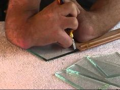 Cut perfect straight lines on glass. This guys has great easy to follow tutorials on stained glass methods
