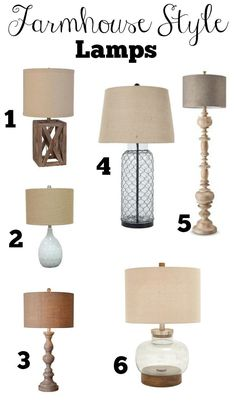 Affordable Farmhouse Style Lamps