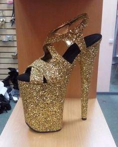 """9"""" gold glitter"""
