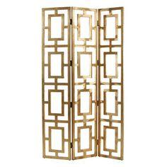 Arteriors Gold Gilded Screen