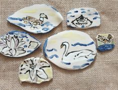 Swan Lake, Ceramic Art, Stoneware, Original Art, Miniatures, Etsy Shop, Ceramics, The Originals, Wall