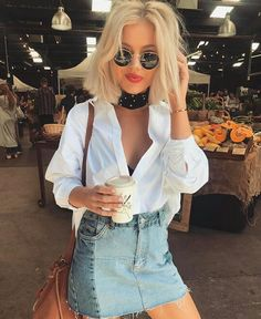 Trendy Ideas For Summer Outfits : 2416 mentions Jaime 13 commentaires Laura Jade Stone ( su Street Style Outfits, Mode Outfits, Skirt Outfits, Casual Outfits, Fashion Outfits, Trend Fashion, Fashion Beauty, Net Fashion, Spring Summer Fashion