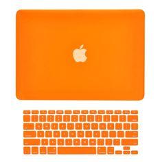 "TOP CASE - 2 in 1 MacBook Pro RETINA 13"" Hard Cover + Keyboard Skin - ORANGE"