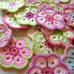 African FLowers & other crochet patterns (mostly baby)